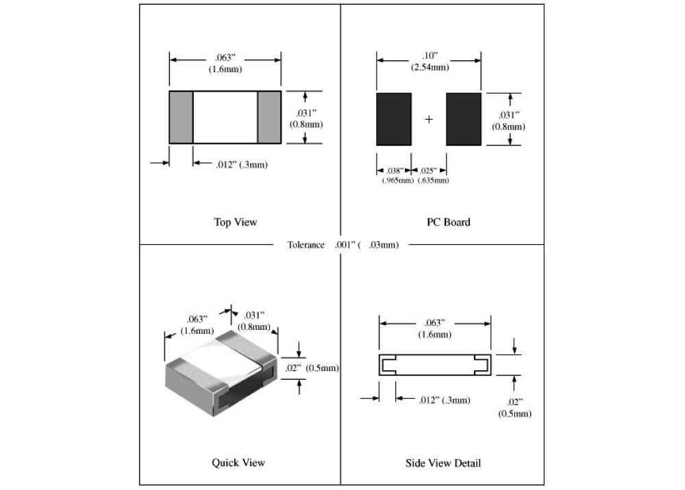 SMD Resistor 0603 3.9R