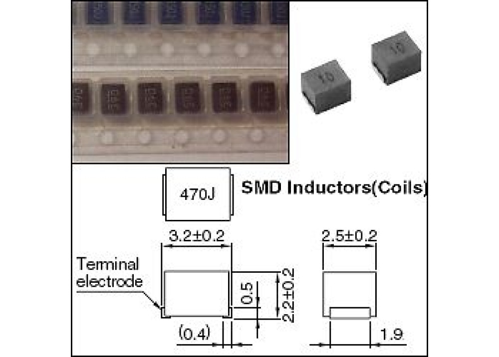 SMD Fixed Inductors 15uH 130mA 1210