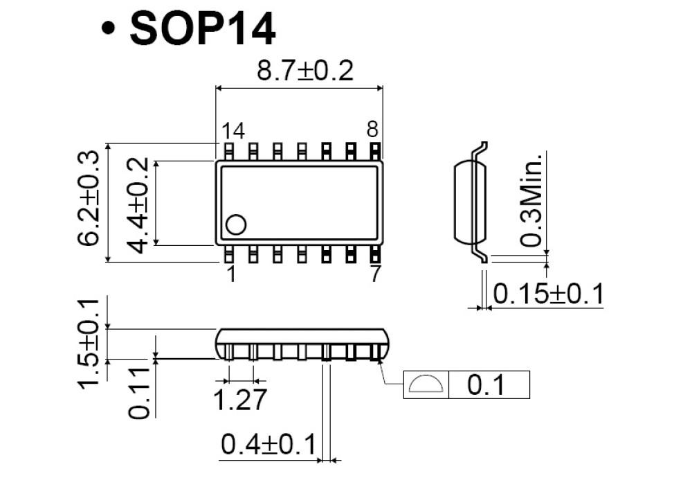 SMD MIC5800YM SOP-14