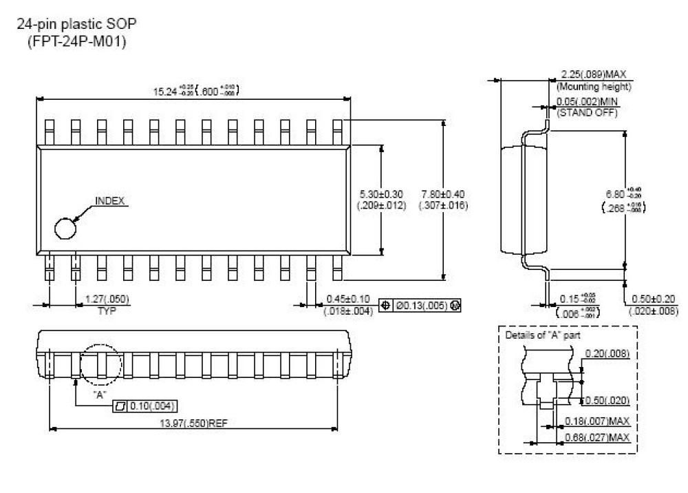 SMD PBL38640/2R3 (7.9mm Width) SOP-24