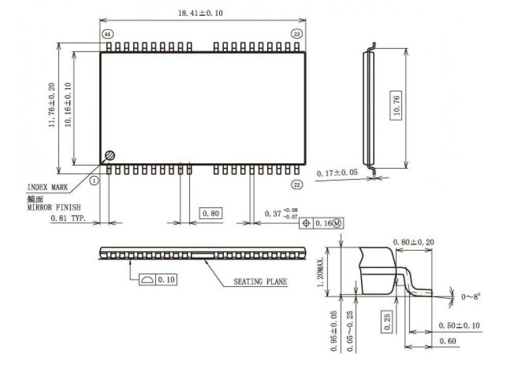 SMD K6X8008C2B TF55 TSOP-44