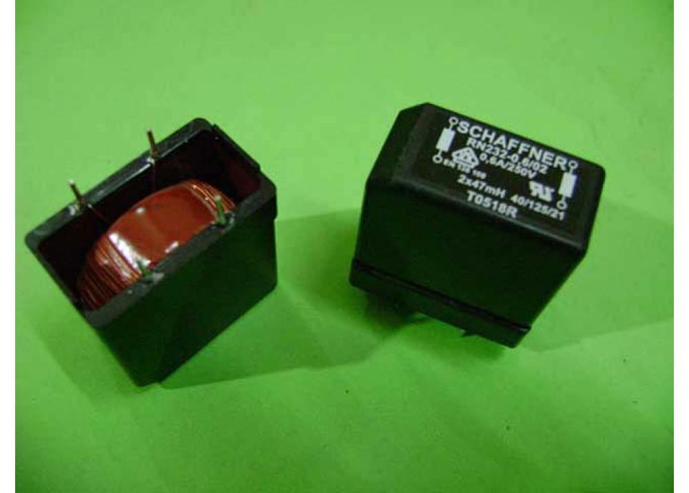 COIL CHOKE RN232-0.6-02-47M 2x47MH 250V 0.6A