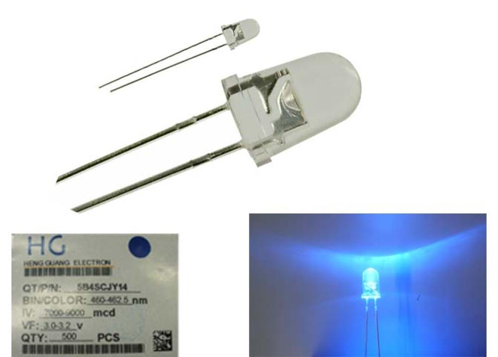 LED HG/5B4SCJY14 BLUE 5mm 9000MCD