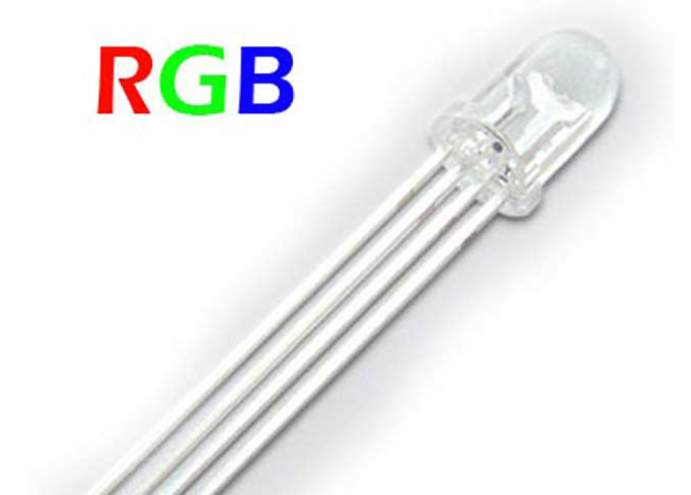 LED RGB+ RED GREEN BLUE 5mm 4P HG