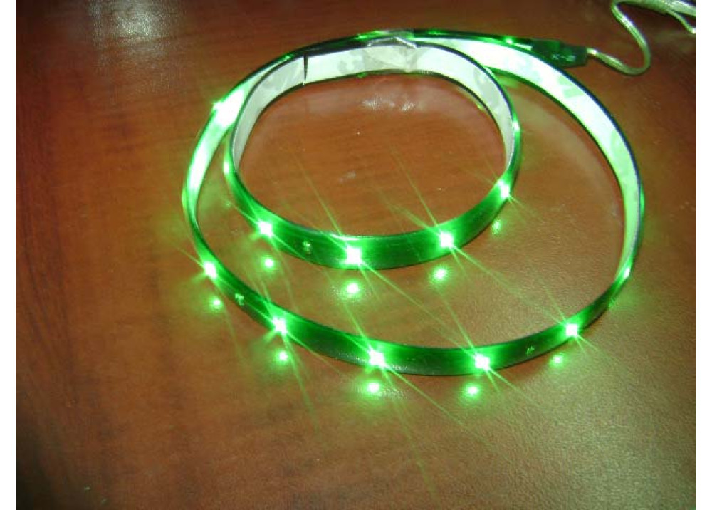 FLEXIBLE TAPE LED GREEN 60CM