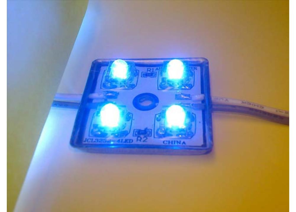 LED 4 LEDs SQUARE BLUE
