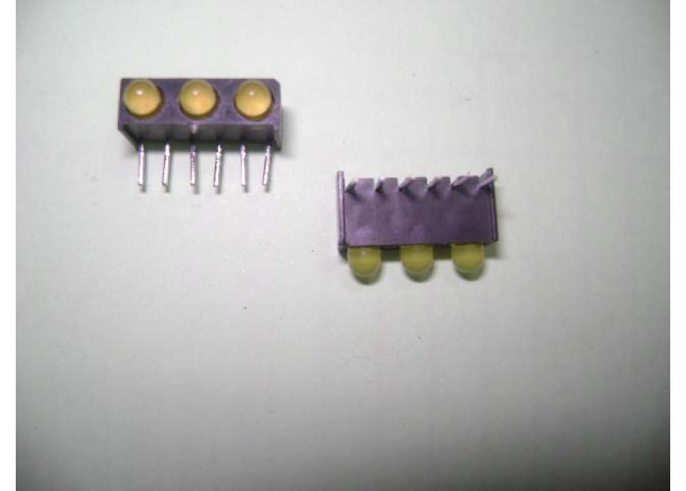 LED 3MM YELLOWx3