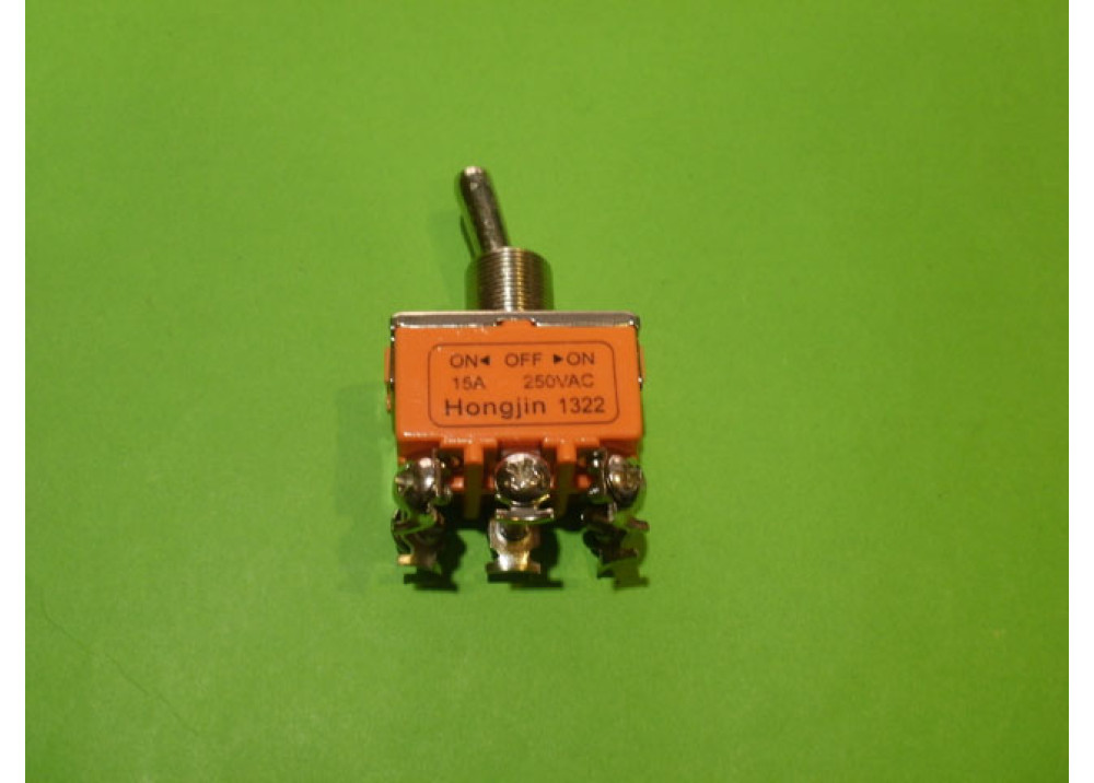 Toggle Switche ON OFF ON 15A  250V 6P ORANGE