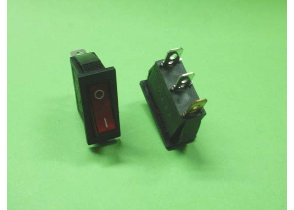 ROCKER SWITCH 16A 250V AC 3P