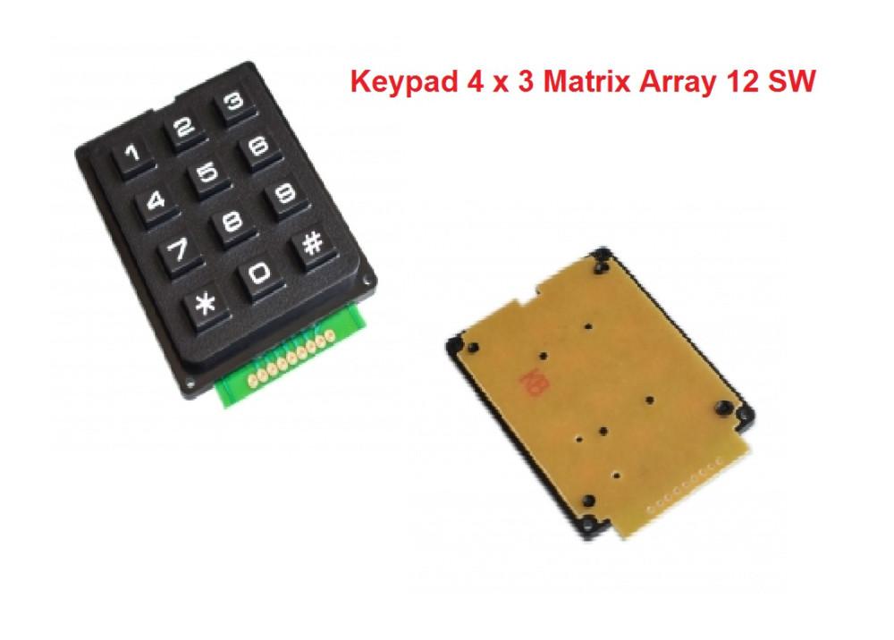 Membrane 12 Switch Keypad 4 x 3 Matrix Array Matrix keyboard membrane switch keypad