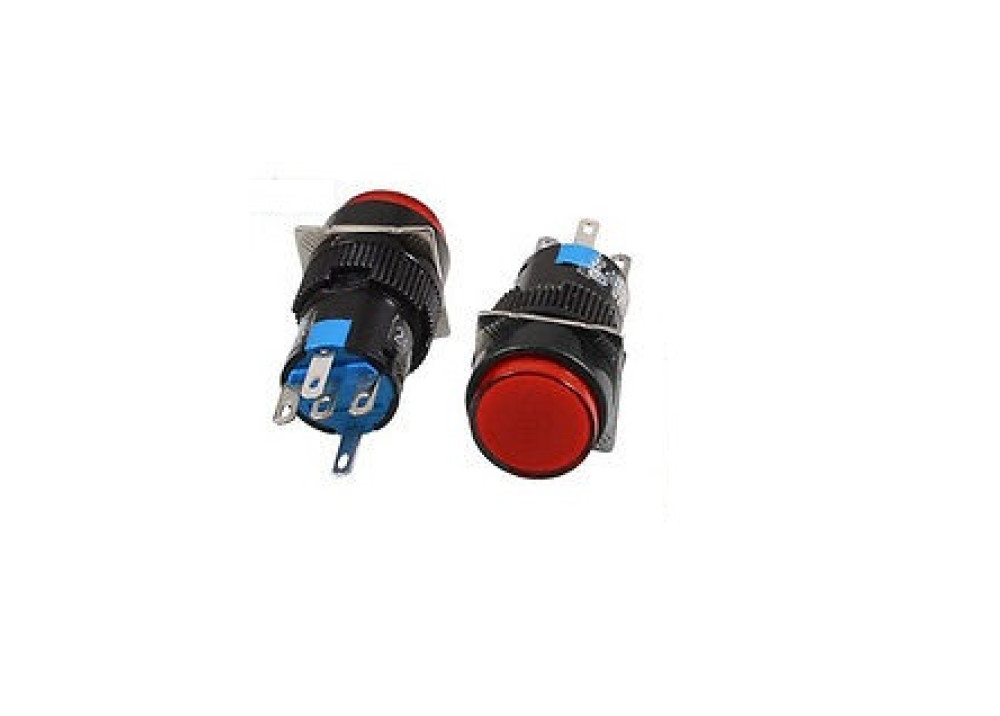 Red Momentary Push Button Switch Panel 220V 16mm 5P