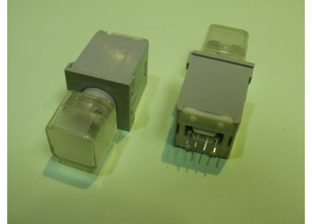 White  Momentary Push Button Switch Panel  11mm 4P