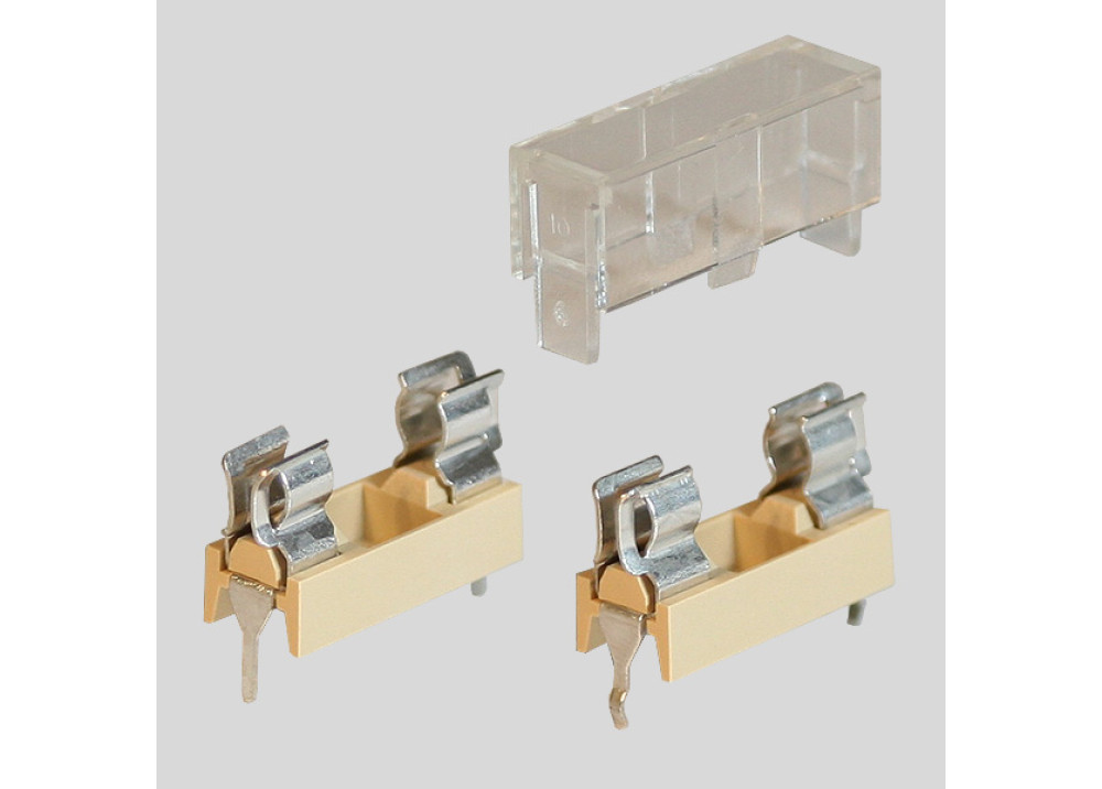 Fuse Holder Transparent PCB 5x20mm