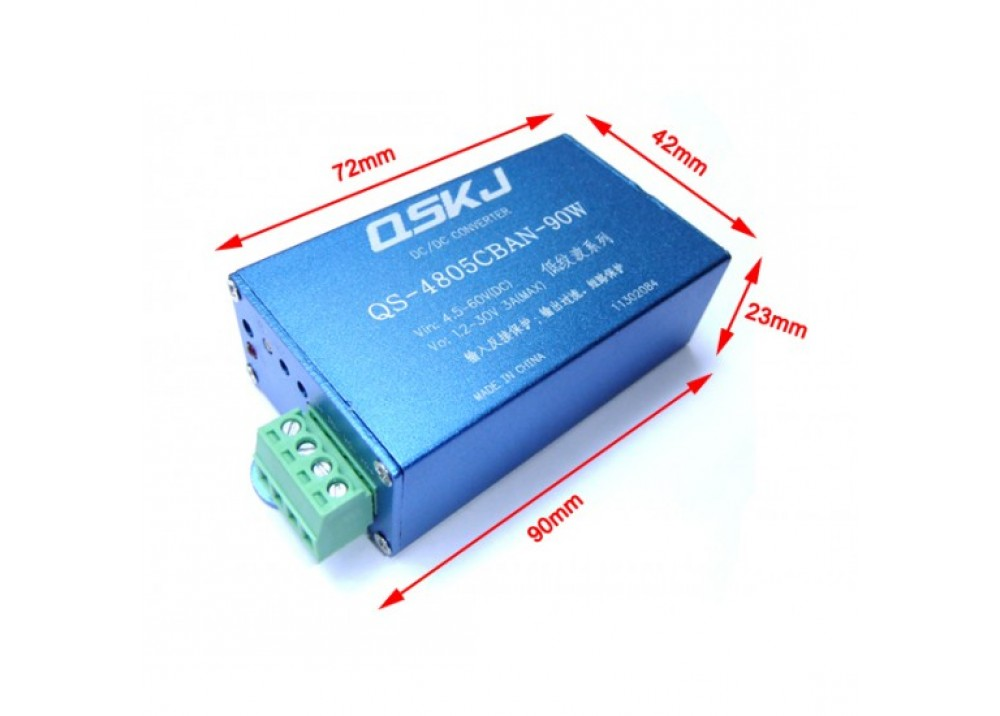 DC-DC Boost/Buck Converter  90W  IN 4.5~60V OUT 30~1.2