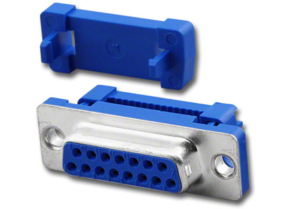 Feale D-Sub IDC Connector 15P Metal Face  Wire To Wire