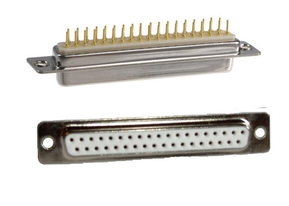 D-Sub 37P Straight Angle PCB Saldare