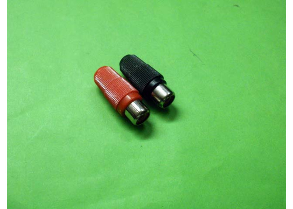 RCA Phono Inline Female Socket Connector  2PCS Wire To Wire