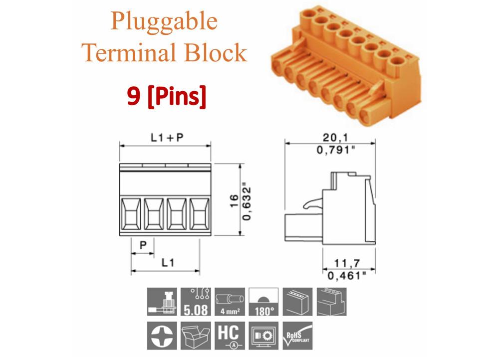 PCB Terminal Block 5mm 2P Vertical Fixed KF301-2P