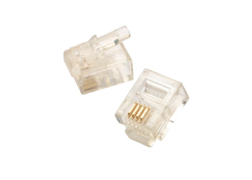 Telephone Connector Plug RJ11 4P4C 9.5mm