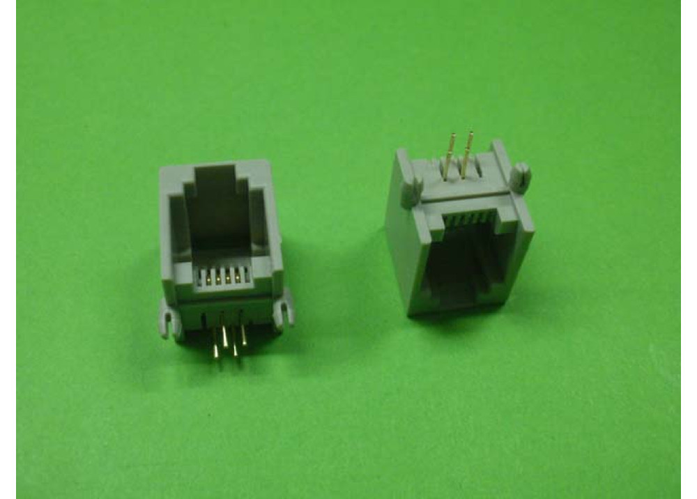 Female PCB Socket Connector Right Angle RJ11