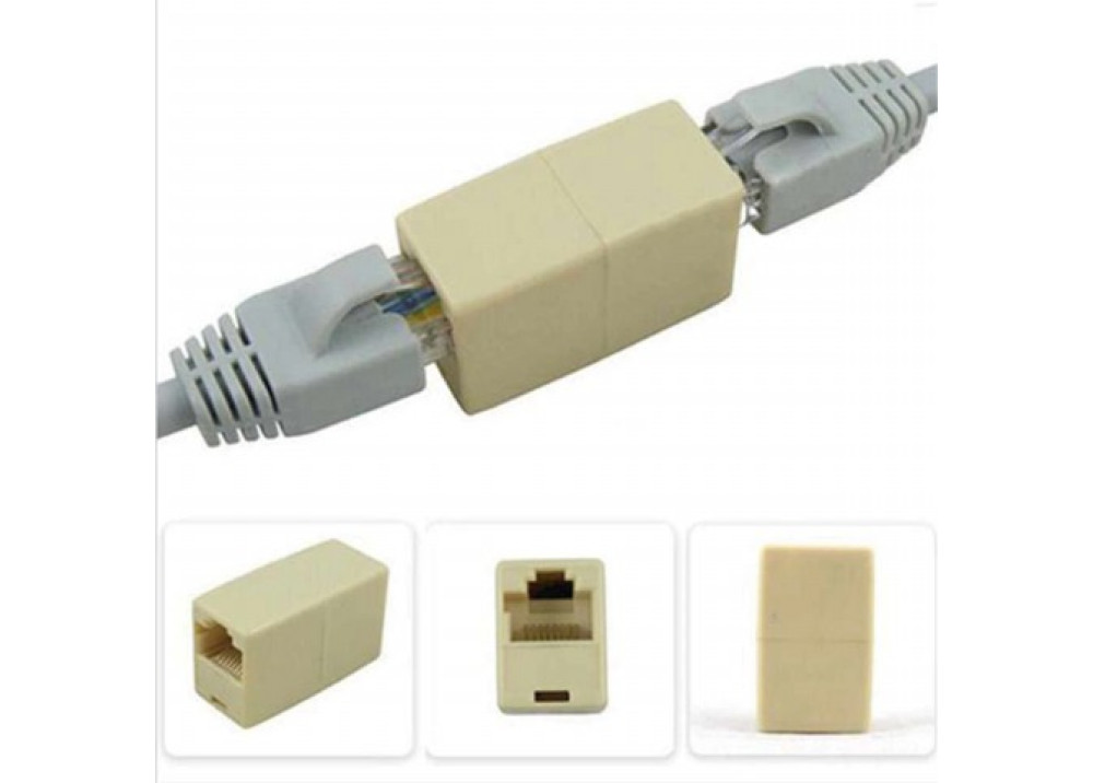 Adapter for Ethernet Cable RJ45 8P Female to Female
