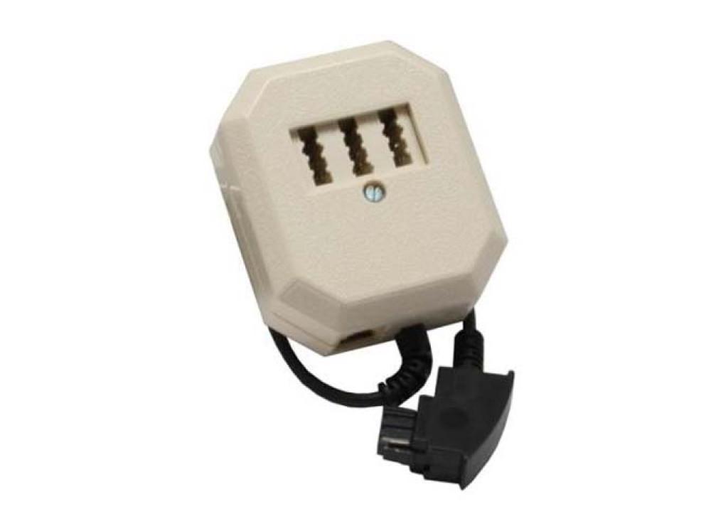 TAE Adapter  TAE-F plug to TAE NFN + RJ11 socket  0.2m