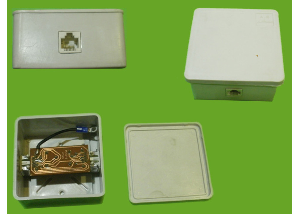 RJ11 Singel surface mount box