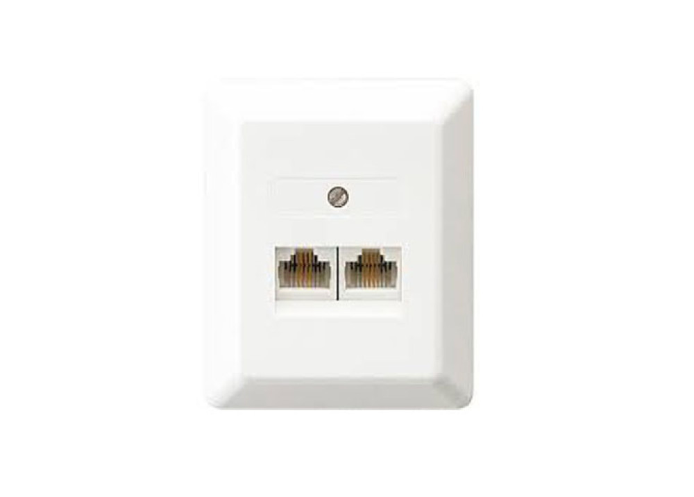 Telephone socket UAE 2x8(4)+RS AP 2WAYS