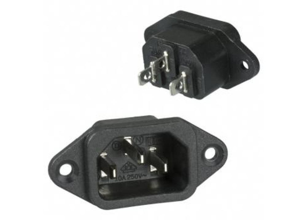 AC Power Male Panel Mount