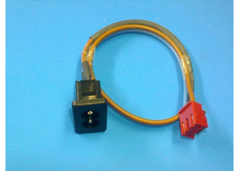 AC Power Male for panel mount withe wire