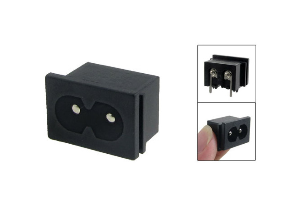 AC Power BCP Male for panel mount