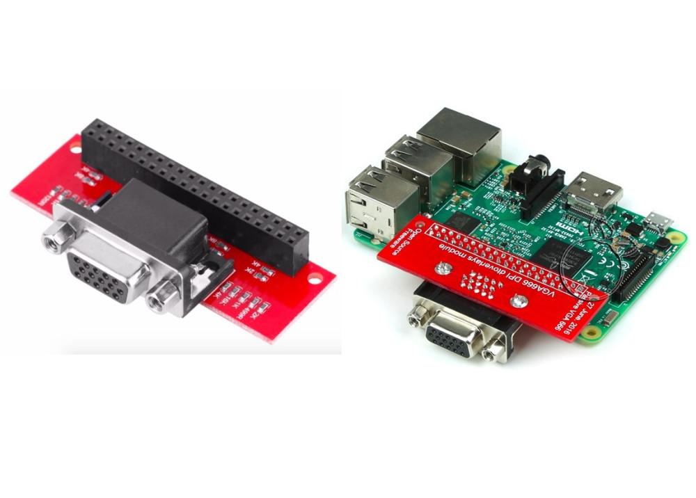 Raspberry Pi 3 B/2/B+ VGA666 Module Adapter