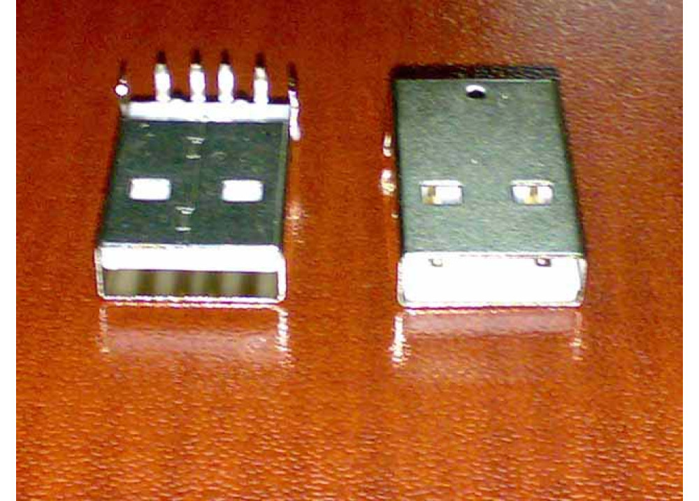 PCB Mounting Type A USB Male Jack 4P