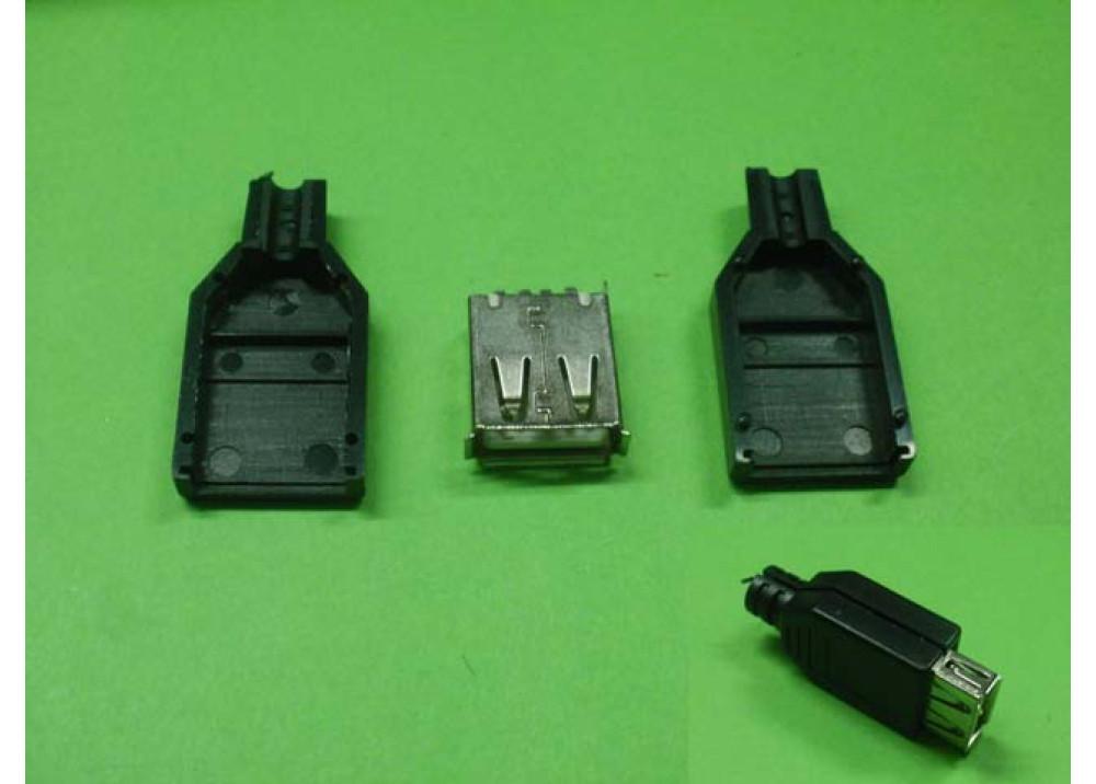 USB DIY Connector Shell Type A Female Socket