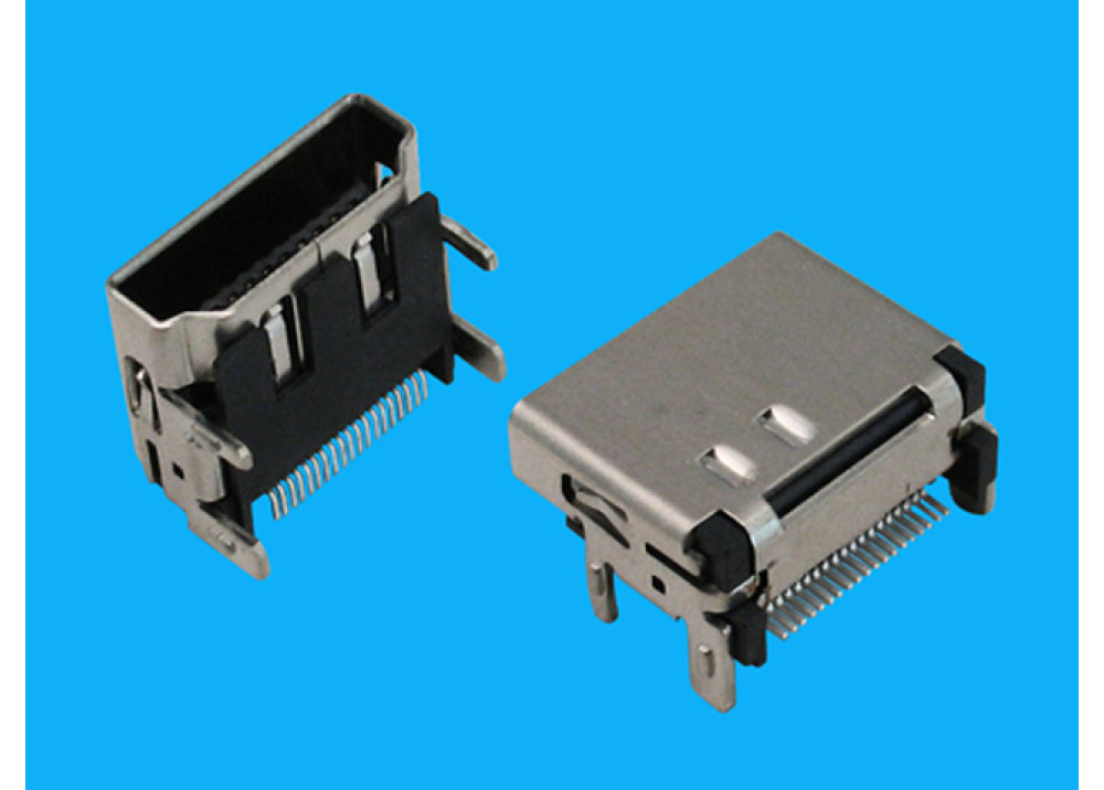 JK SMD Mini HDMI Female Connector right angle surface mound PCB