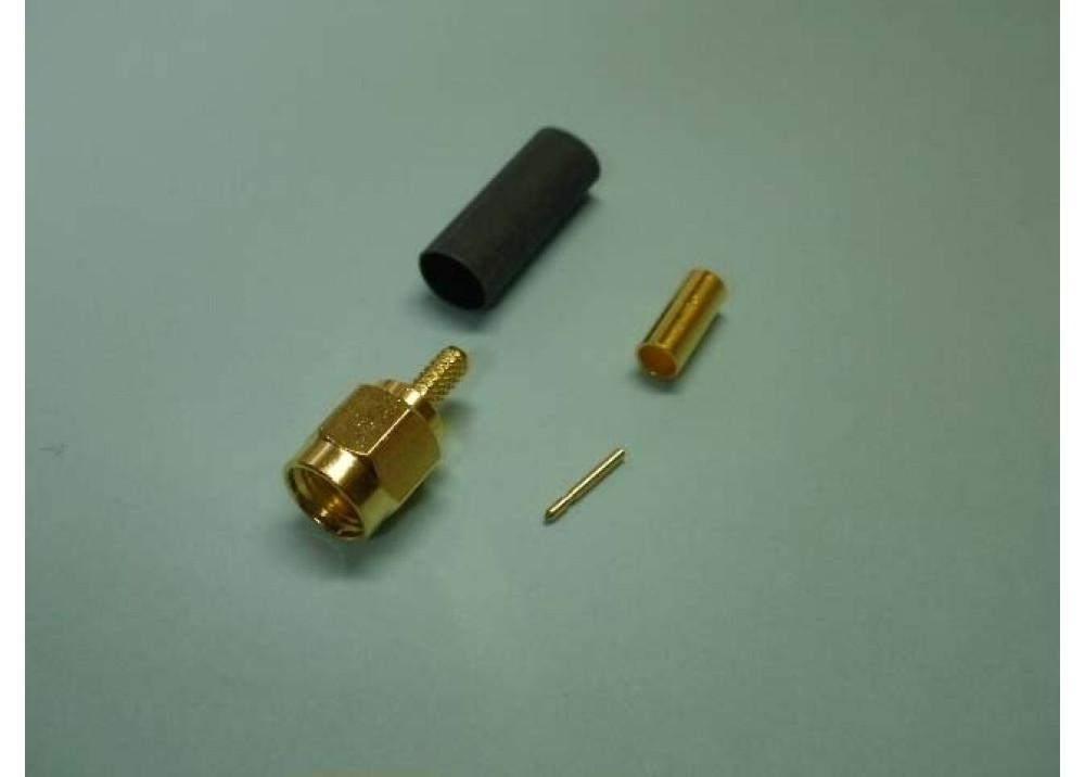 SMA1111A2-3GT50G-G-50  Crimp SMA male connector RG174