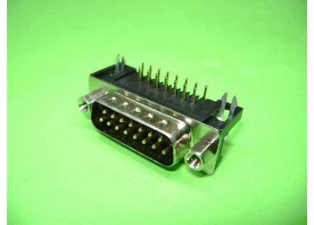 PCB SUB D15MR  Wire To Bord