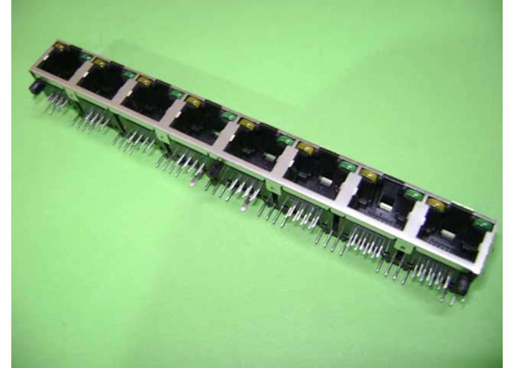 JK RJ45 PCB R LED x8
