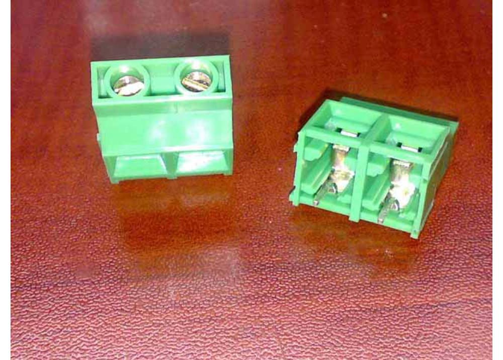 PCB Screw Terminal Blocks 9.5mm 2P Rising Clamp type 21.5Height green