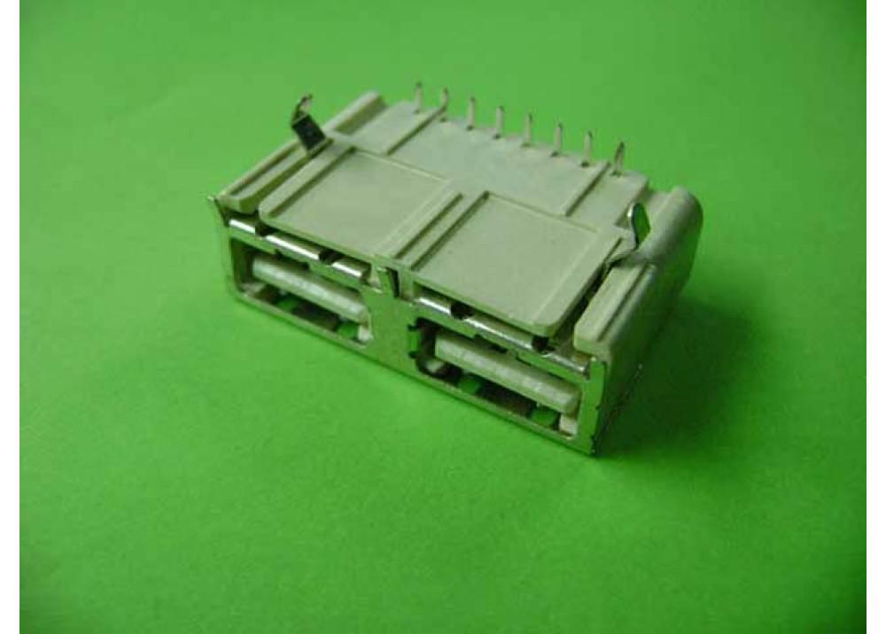 JK USB Connector Female A PCB Dual