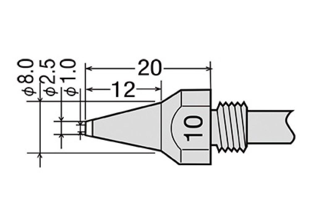 GOOT NOZZLE TP100 TP200 - 1.0mm