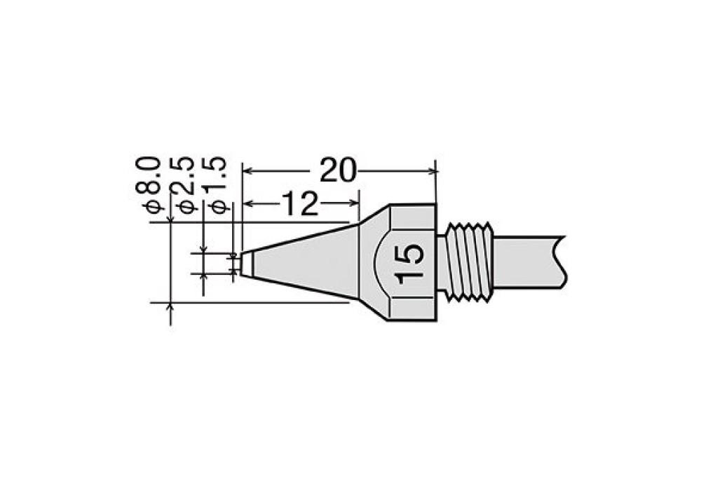 GOOT NOZZLE TP-100N-15 TP100 TP200 - 1.5mm
