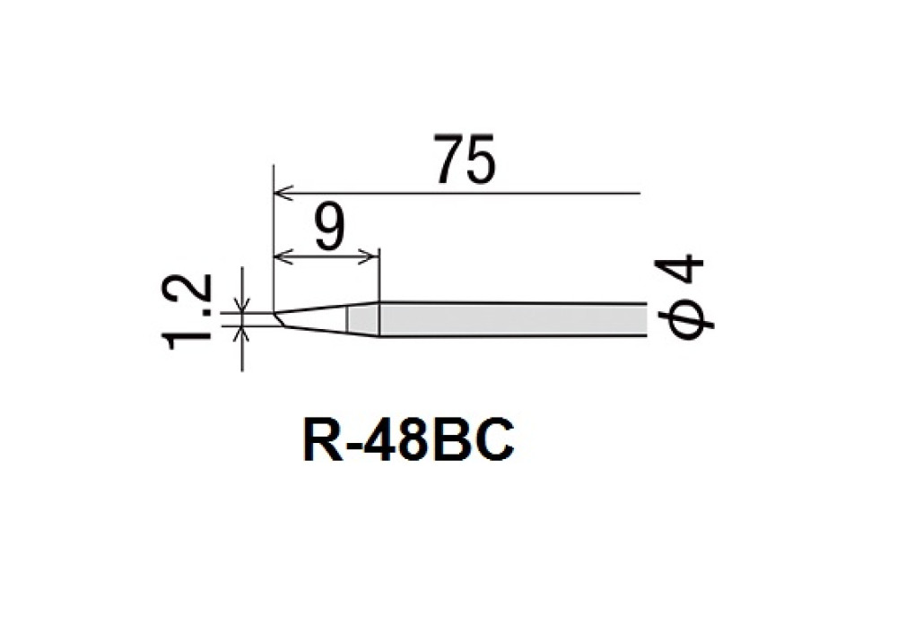 GOOT  R-48BC  Soldering Iron Tip For 40W