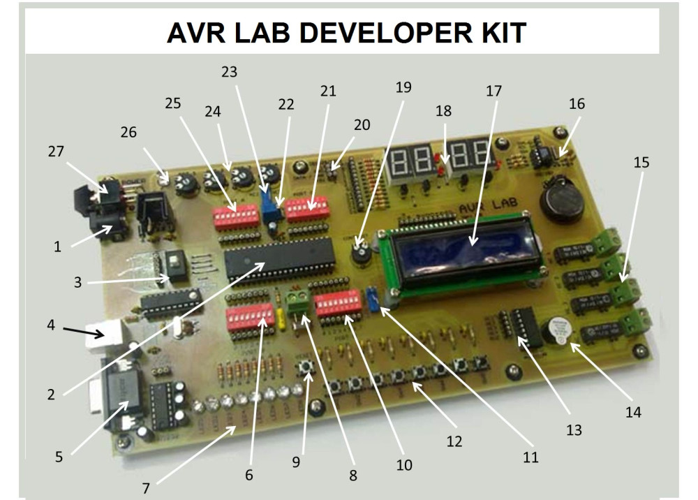 AVR LAB DEVELOPER KIT