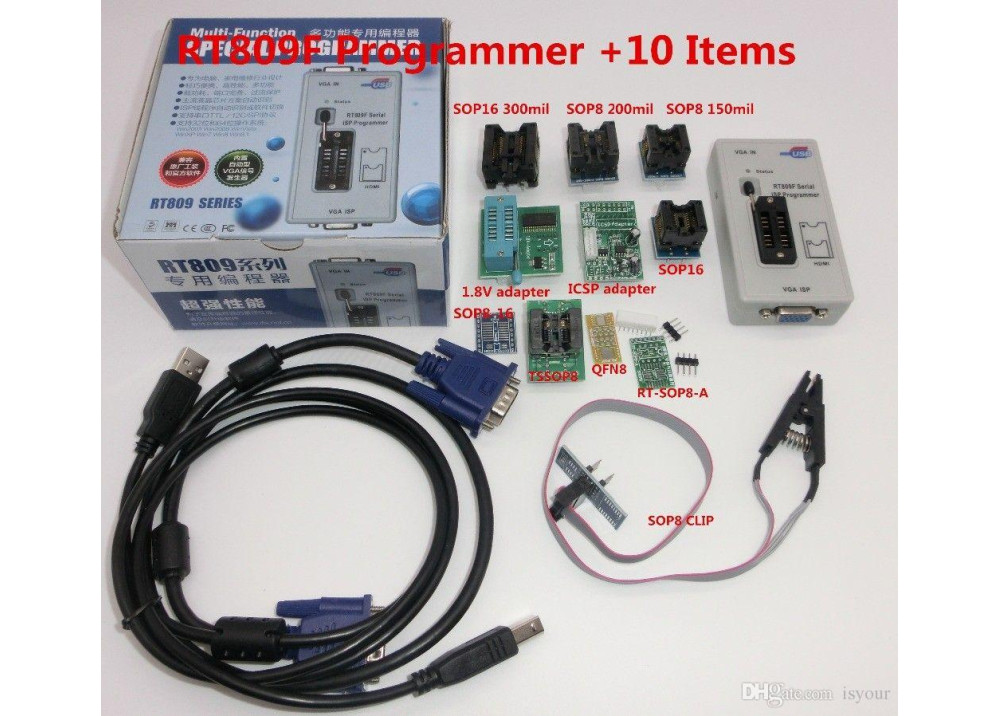 RT809F Universal Programmer 10.Pcs