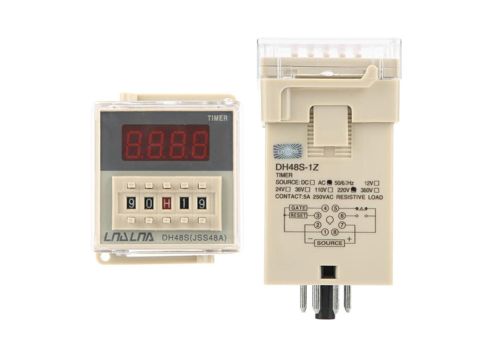 Timer On-Off delay  time relay DH48S-S