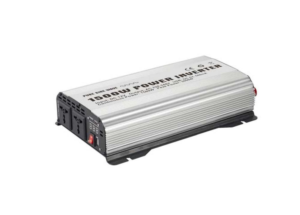 INVERTER  DC12V~AC220V 1500W USB DC5V 500ma
