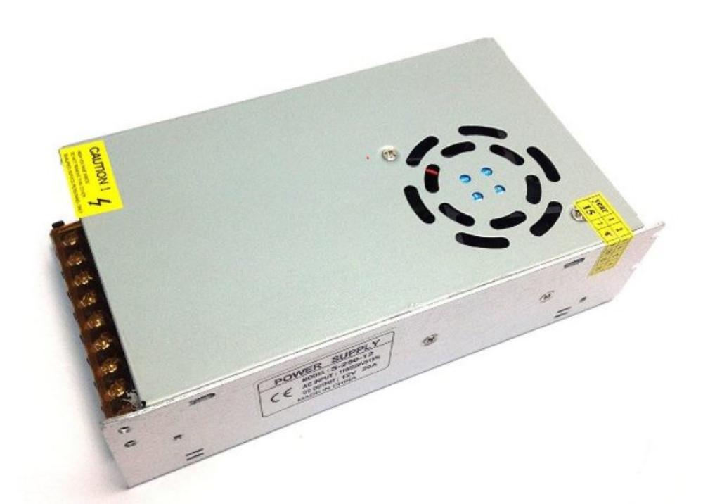 Switching Power Supply SMPS 110V 220V AC DC 12V 20A + FAN
