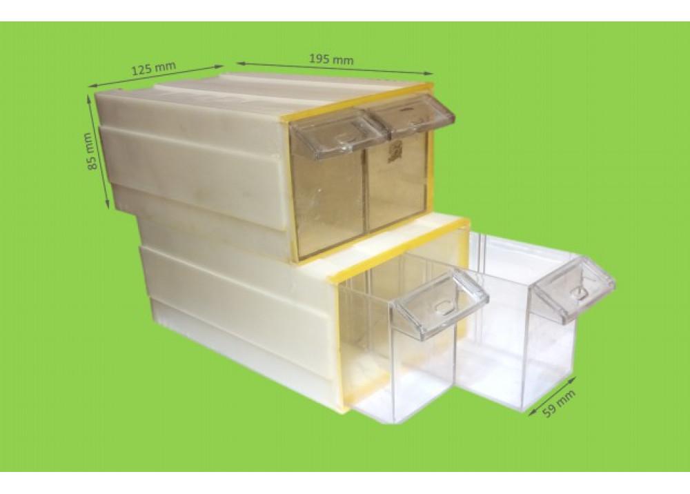 Drawer Storage D20/2-PS 19.5*8.5*12.6cm 1X2