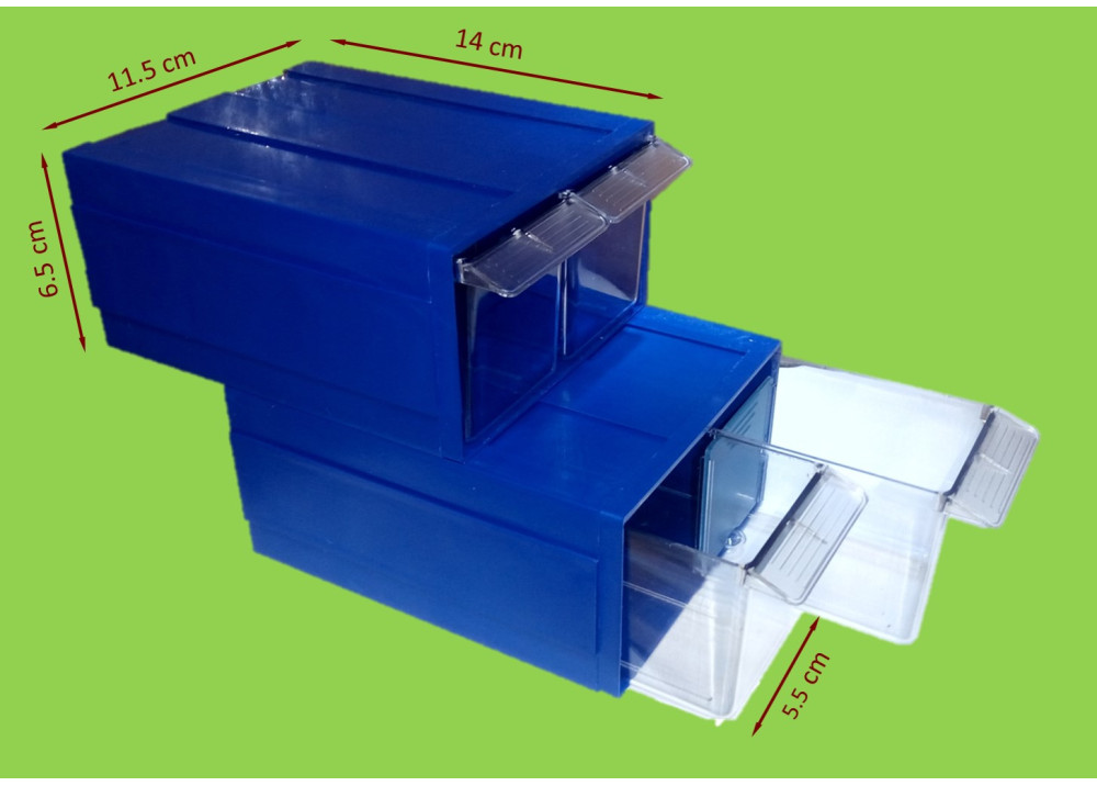Drawer Storage D15/2-PS 14*6.5*11.5cm 1X2